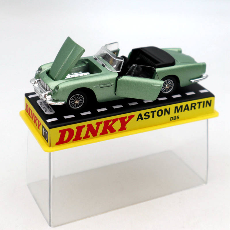 Atlas 1/43 Dinky Toys 110 Aston Martin Green Diecast Models Collection Car Gift