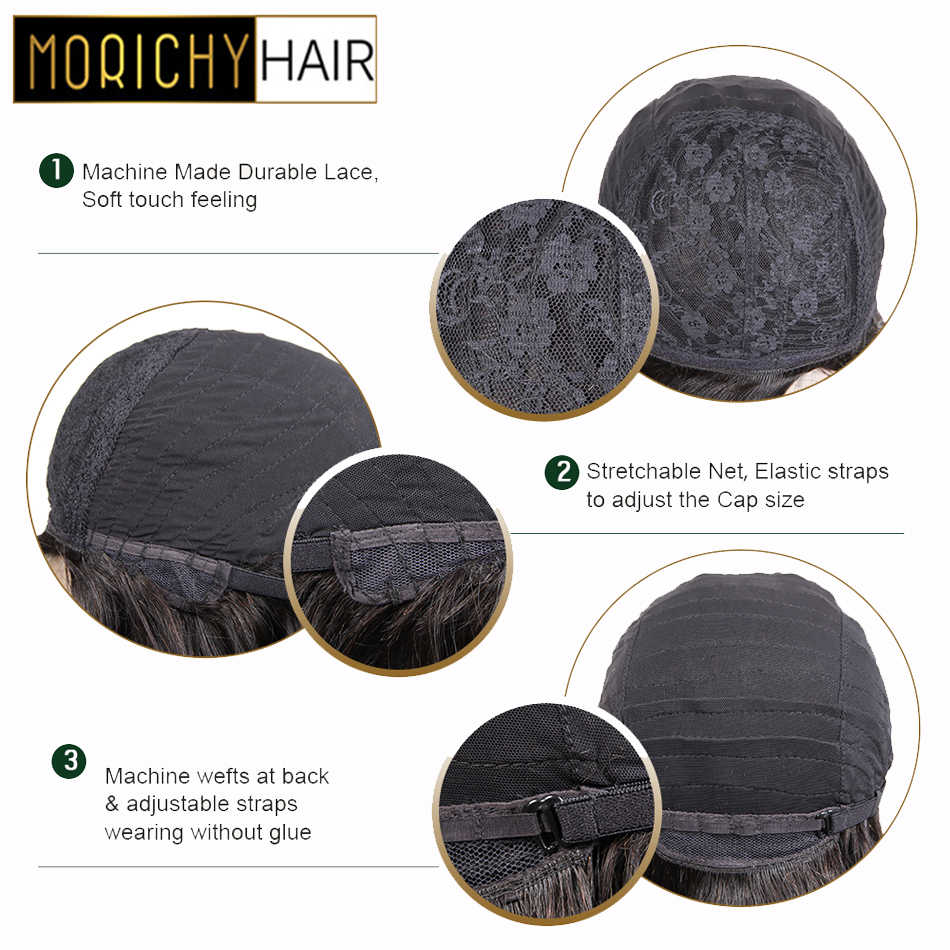 Morichy Short Cut Kinky Curly Full Wigs 6inch Malaysian NON-Remy Real Human Hair Deep DIY Hairstyle Wigs Emo Goth Punk styles