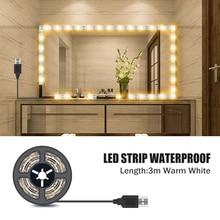 Vanity Makeup Mirror Light 5V USB LED Flexible Tape USB Power Waterproof Bathroom Dressing Table mirror Wall Lamp Decor 0.5m -5m