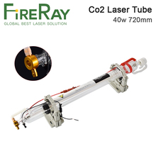Fireray 40W Co2 Laser Tube Upgraded Metal Head Length 720mm Dia50mm for CO2 Engraving Cutting Machine