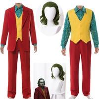 2019 Joker Origin Movie Horror Horror Clown Halloween Party Costume Clown Wig Cosplay Green Synthetic Hair Free Shipping