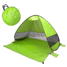Automatic Camping Tent Ship Beach Tent 2 2-3 Persons Tent Instant Pop Up Open Anti UV Awning Tents Outdoor Sunshelter automatic instant pop up beach tent lightweight outdoor uv protection camping fishing tent cabana sun shelter