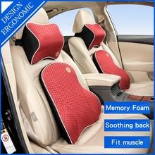 цена на Car Pillow cushion back pillow car Seat pillow lumbar support for office chair cushion for car Auto Universal 3D Memory Foam