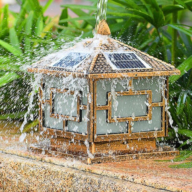 Светильник на солнечной батарее, освещение крышки столба светильник s для украшения сада Открытый водонепроницаемый Пейзаж Двор столб ламп