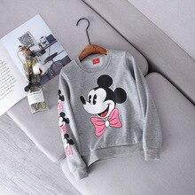 Милый свитер с Минни для маленьких девочек осенне-зимние теплые толстовки с длинными рукавами для девочек от 1 до 4 лет, одежда для маленьких девочек на день рождения