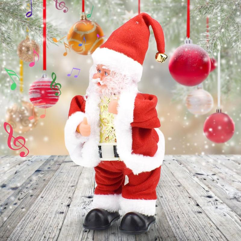 Funny Shaking Butt Walk Santa Claus Doll Electric Music Toy Christmas Gifts Baby Kids Vocal Toys Children Electronic Toy Gift