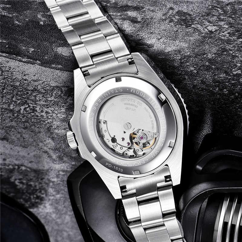 2019 novo pagani design marca de luxo automático relógio mecânico masculino aço inoxidável à prova dwaterproof água negócios relógios mecânicos