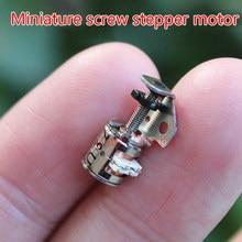 6 milímetros Minúsculo atuador Linear Micro Slide Parafuso Do Motor de Passo Fase 2 4 Fios Do Motor de Passo Micro Motor Passo A Passo