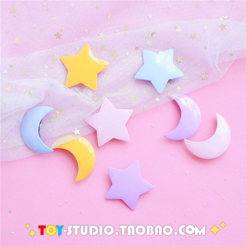 Fashion Moon Star Shape Hairpin Metal Hair Clip Barrette Gifts Hair Clips Colored Moon Star Pins Hairpins