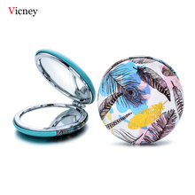 Vicney 2019 New Portable Double Sides Pocket Make Up Mirror Stainless Steel Creative Fashion Cosmetic Makeup Mini Beauty