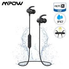 ต้นฉบับ Mpow S11 IPX7 บลูทูธกันน้ำ 5.0 หูฟังแม่เหล็ก AptX หูฟังกีฬาเวลาเล่น 9 ชั่วโมงสำหรับโทรศัพท์