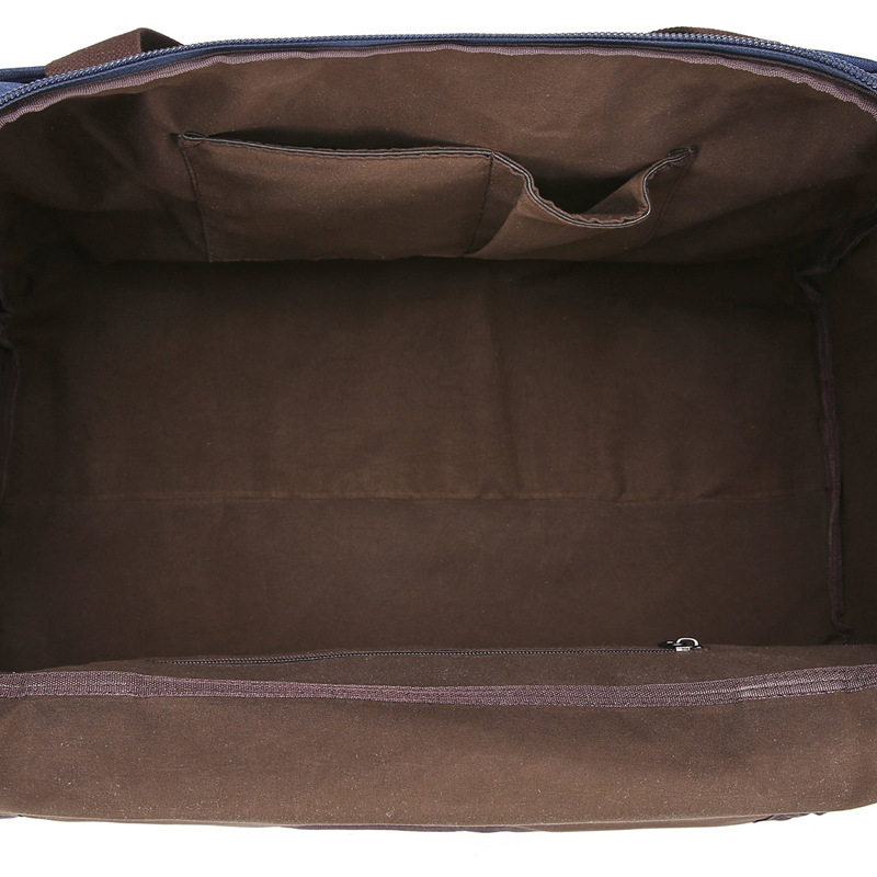 Large capacity travel bag anti splashing material for men and women pure color luggage travel bag - 3