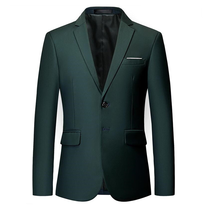Mens Stylish Colorful Slim Fit Casual Blazer Jacket Green Purple Black Yellow Wedding Prom Formal Blazers Coats For Men