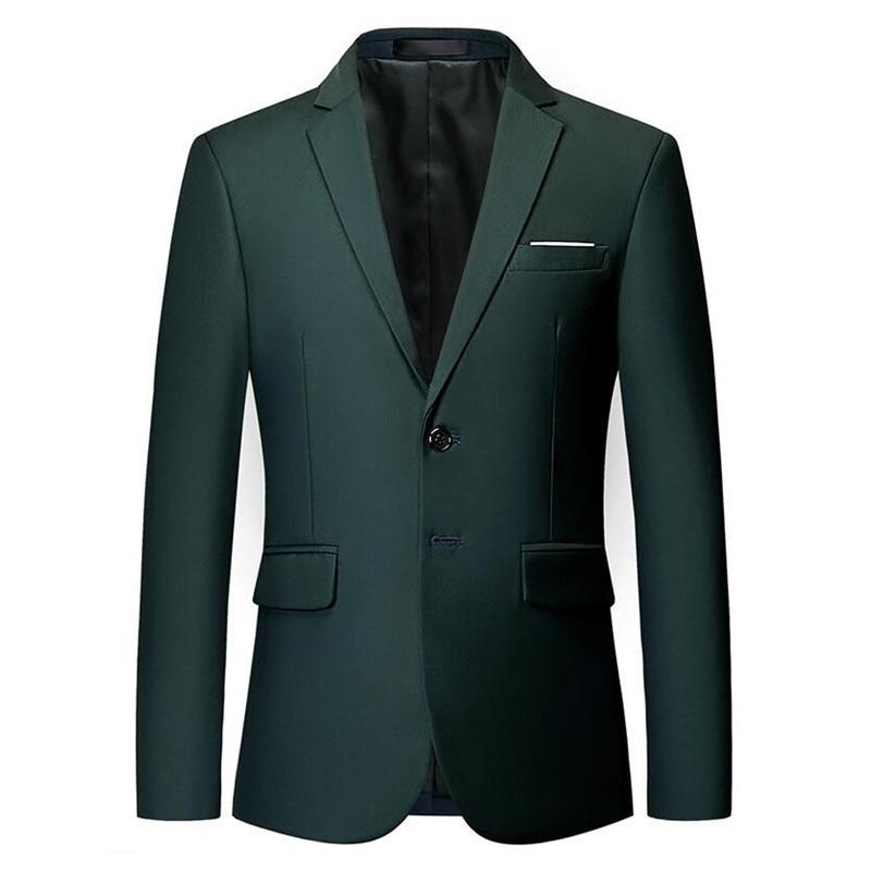 Mens Stylish Colorful Slim Fit Casual Blazer Jacket Green Purple Black Yellow Wedding Prom Formal Blazers Coats For Men