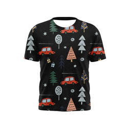 New version Of Christmas Santa Claus 3D Printing T-Shirt O-Neck Short-Sleeved Summer T-Shirt For Boys And Girls Fashion Casual
