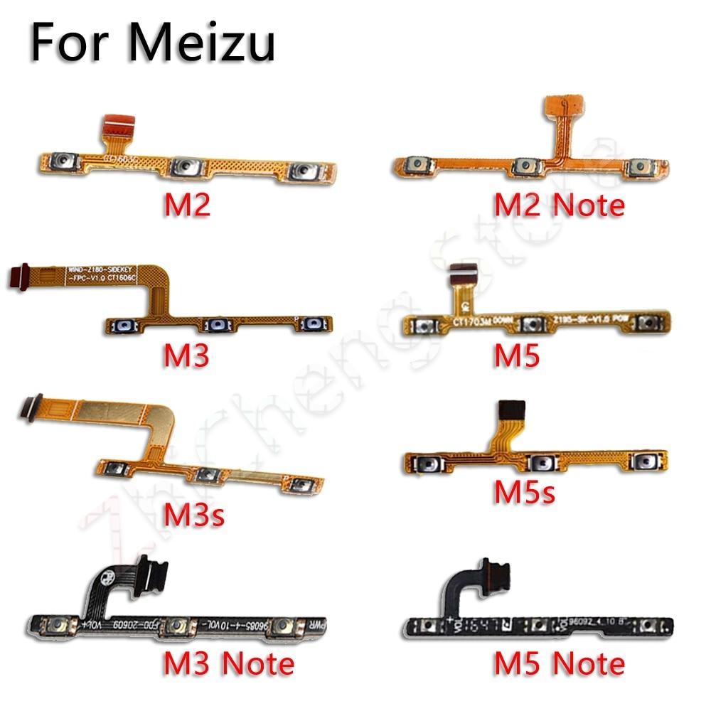 Power/Volume Buttons Flex Cable For Meizu M2 M3 M3s M5 M5s M6 M8 Note U10 U20 Plower Flex Original