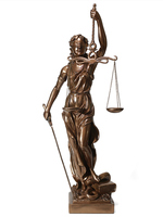 Copper material Justice Fair Justice Goddess Gifts Sculpture Statue Lawyer Office Legal Balance Decoration Home Decor Resin
