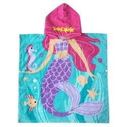 Mermaid ręcznik z kapturem dla dzieci kąpiel/ręcznik plażowy dla dziewczynek/chłopców ulepszona wersja 80cm syrenka|Ręczniki kąpielowe|Dom i ogród -