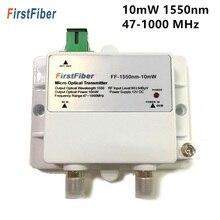 Fibra ótica 47 1000 mhz 1550nm do único modo do modelo 10 mw catv do transmissor ótico de ftth micro com sc/apc