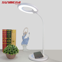New Led Desk Lamps 10W Wireless Charging 3/7-level Touch Dimming Children Study Table Lamp Eye Protection Reading Foldable Light original royole smart memory desk lamp touch sensor dimming table eye protection folding for learning working charging novelty