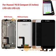 Новый ЖК дисплей сенсорный экран для Huawei Y6 II Compact Honor 5A LYO L01 LYO L21 LYO L01 L21 ЖК дисплей сенсорный экран с рамкой