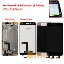 New lcdの表示画面センサーhuawei社Y6 iiコンパクト名誉 5A LYO L01 LYO L21 lyo L01 L21 lcdディスプレイタッチ画面とフレーム