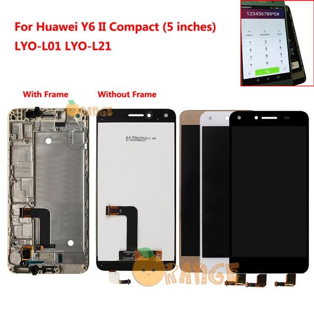 Nouveau capteur décran daffichage à cristaux liquides pour Huawei Y6 II Compact Honor 5A LYO L01 LYO L21 LYO L01 L21 écran tactile daffichage à cristaux liquides avec cadre