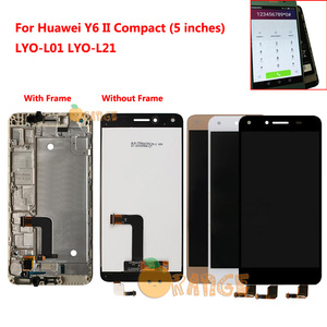 Image 1 - Novo sensor de tela lcd para huawei y6 ii compact honor 5a LYO L01 LYO L21 l01 l21 lyo display lcd tela toque com quadro