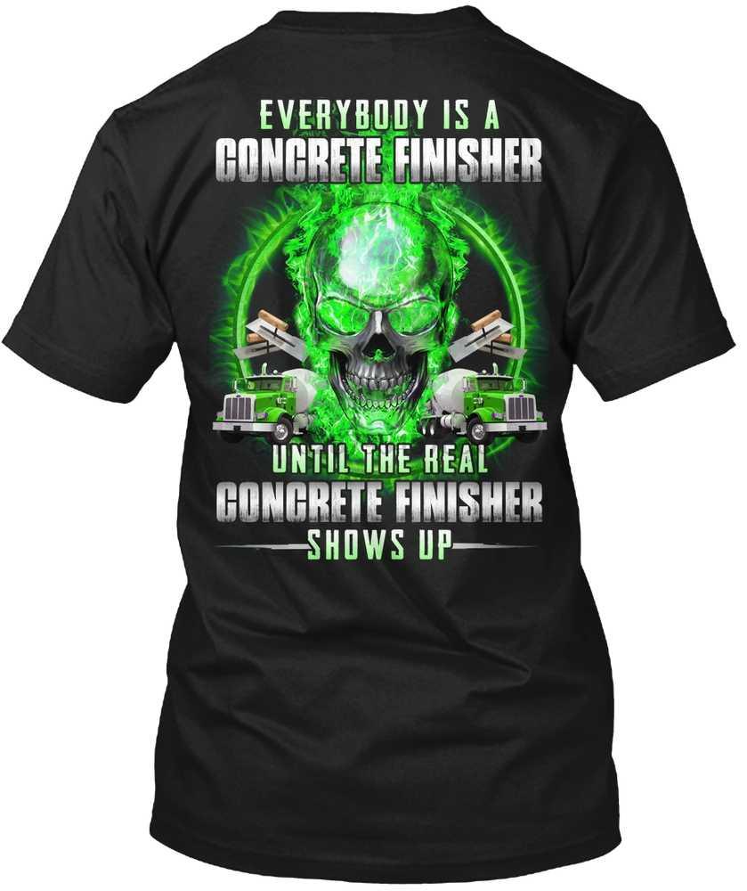 Мужская футболка настоящий бетонный финишер показывает (1) женская
