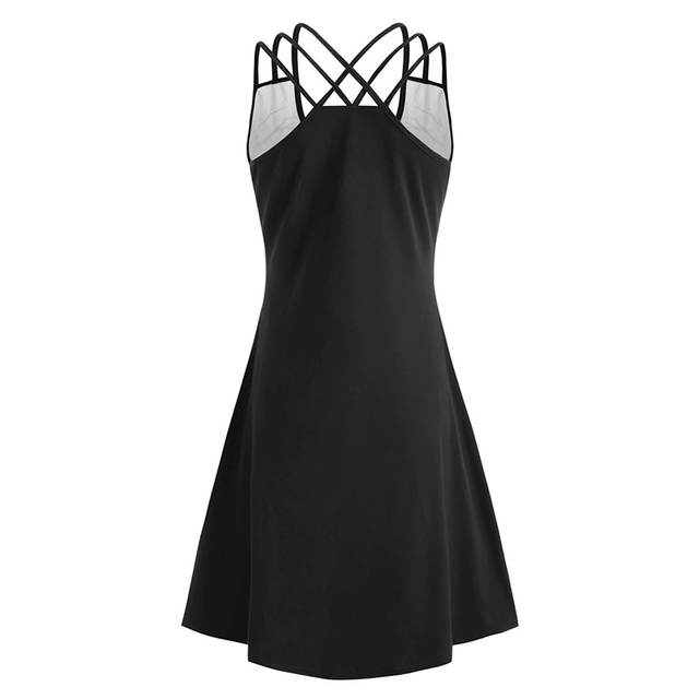 OTEN Women 2020 Halloween Sexy Mini Dresses Crew Neck Backless Spaghetti Strap Casual Printed Sleeveless High and Low Dressess 2