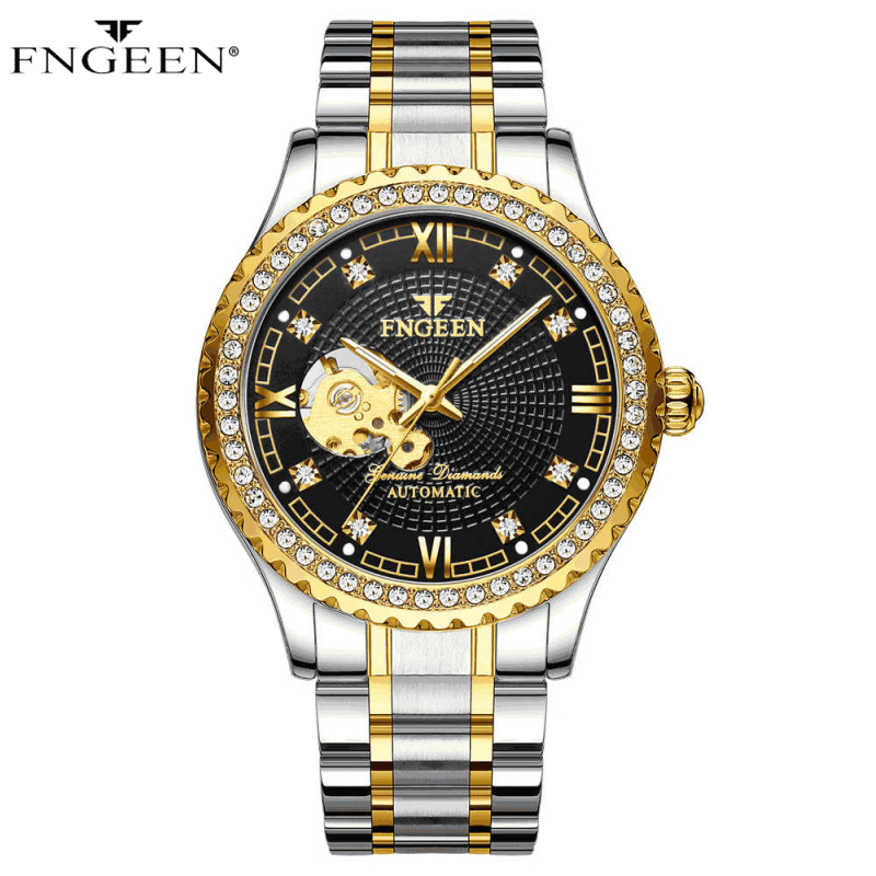 Skeleton Watch Men FNGEEN Sport Mechanical Watch Luxury Watch Mens Watches Top Brand Montre Homme Clock Men Automatic Watch