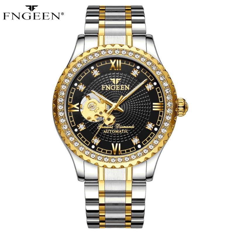 Skeleton Watch Men FNGEEN Sport Mechanical Watch Luxury Watch Mens Watches Top Brand Montre Homme Clock Men Automatic Watch