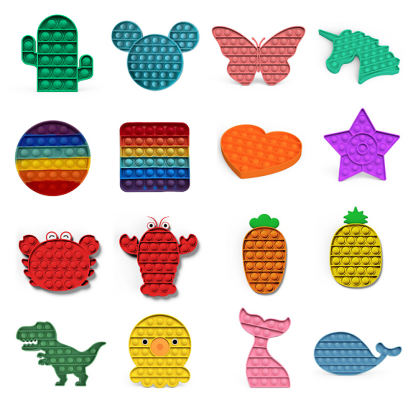 Забавные игрушки-антистресс Pop It, Пузырьковые игрушки для снятия стресса, антистресса, игрушки для взрослых и детей, снятие аутизма, сенсорн...