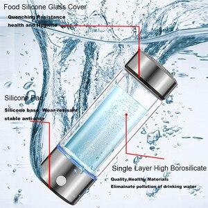 Image 3 - 420ML 3Mins Hydrogen Rich Water Cup Lonizer Alkaline Maker Rechargeable Super antioxidants ORP Hydrogen Bottle