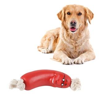 2020 zabawki dla zwierząt domowych kiełbasa piszczące zabawki dla zwierząt zdrowe zabawki lateksowe dla Wholsale zabawki dla zwierząt domowych sprzedaż hurtowa artykuły dla zwierząt domowych tanie i dobre opinie hoomall CN (pochodzenie) RUBBER Chew zabawki