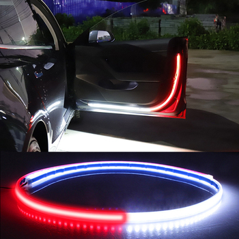 Car Door Opening Warning LED Lights Welcome Decor Lamp Strips Anti Rear-end Collision Safety Universal auto accessories