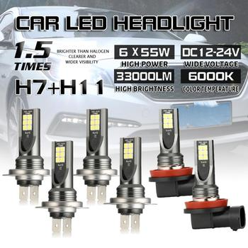 2PC LED 11000LM H7 H11 Auto Car Headlight Bulbs 6000K Auto Lamps Fog Lamp Car Accessories image