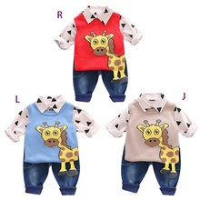 Autumn Baby Boy Long Sleeve Geometric Print T-shirt Sleevele