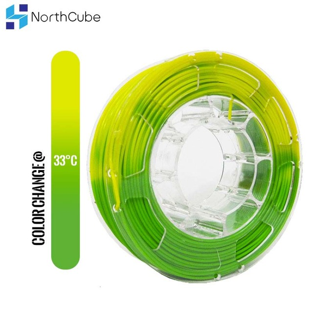 PLA Filament 1.75mm Color Change with Temperature 3D Printer Filament 1KG SUNLU Color Changing Filament Orange to White