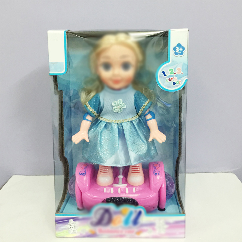 Children'S Educational Electric Doll Electric Balance Car Doris Doll Light Included Light Music Universal Sports Toy