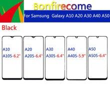 10pcs \ mucho para Galaxy A10 A20 A30 A40 A50 A105 A205 A305 A405 A505 pantalla táctil de vidrio exterior frontal panel Replacement