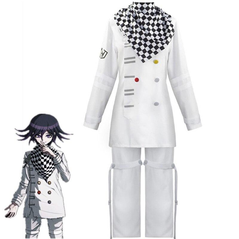 Danganronpa V3 Kokichi Oma prezydent Cosplay kostium pełny (zestaw) Zentai szalik płaszcz mundury