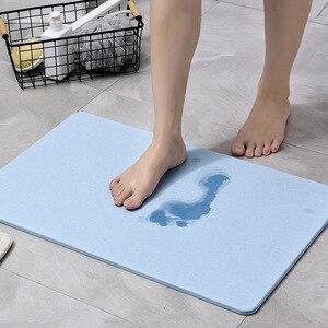 Bath mat Diatomaceous Non slip Bathroom Absorbent quick drying pad Rug Bath Mats bathroom Home Kitchen Door Floor Mat Foot pedal|Kitchen Islands & Trolleys| |  -