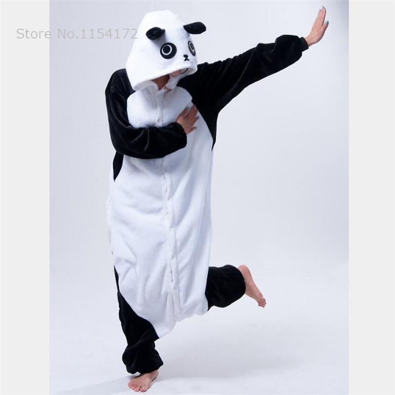 Image 2 - Kigurumi Kungfu Panda onesies Pajamas Cartoon costume cosplay Pyjamas Adult  Animal  Onesies  party dress  Halloween pijamas