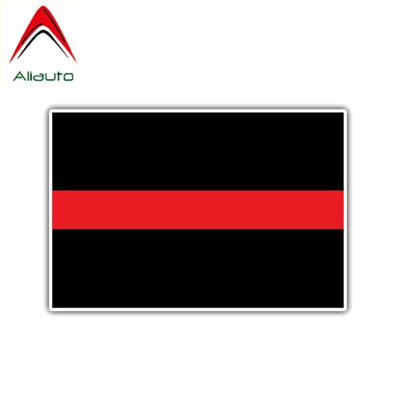 Aliauto おかしい警告車のステッカー赤ライン消防士役員 Pvc デカールマツダオペルアウディスマート現代ミニ、 14 センチメートル * 10 センチメートル