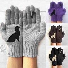 Gants chauds d'extérieur en coton pour femmes, hiver, mignons dames, impression de dessins animés, gants de doigts, vêtements chauds, 2020