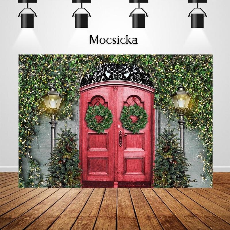 Mocsicka рождественские винтажные двери Фотостудия Фото фоны