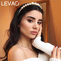 Levao Full Pearls Beads Headband for Women Elegant Hair Hoop Hairbands Party Stylish Bezel Head Band Girls Hair Accessories