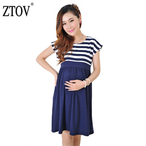 Image 1 - ZTOV Women Long Dresses Maternity Nursing Dress for Pregnant Women Pregnancy Womens dress Clothing Mother Home Clothes L/XL/XXL
