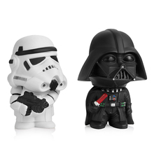 Cute Car Ornament Star Wars Anime Figure Doll Miniature Figurines Black Series Darth Vader Stormtroopers Toy Model Children Gift hasbro star wars 40th anniversary black series titanium series figure darth vader leia organa solo collection toy model gift